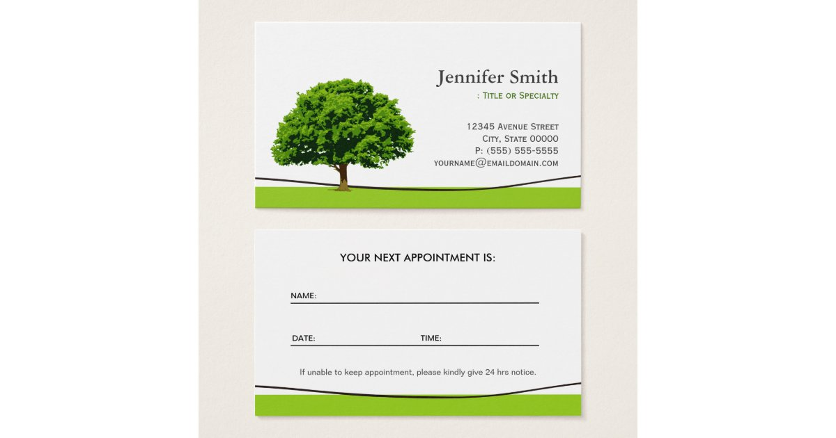 Wise Oak Tree Care Service - Appointment Business Card | Zazzle.com