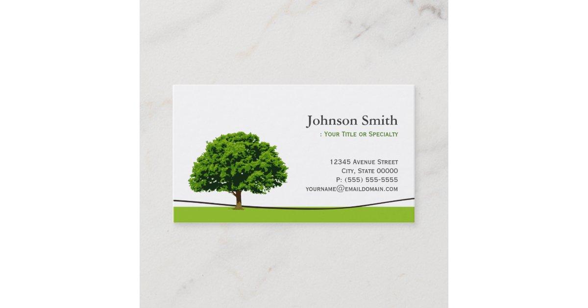 Wise Oak Tree Symbol - Professional Tree Service Business Card ...