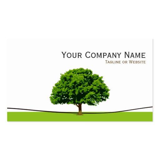 Wise Oak Tree Symbol - Professional Tree Service Business Cards (back side)