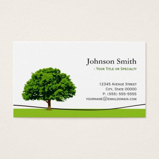 Wise oak tree symbol professional tree service business for Tree service business card