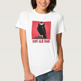 Wise Old Bird T-Shirt  - Owl in Red
