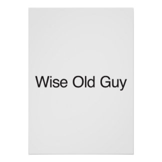 Wise Old Guy Print