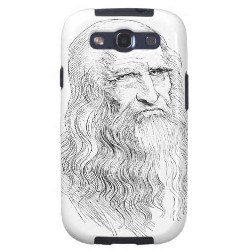 Wise Old Man Line Drawing Samsung Galaxy S3 Cases