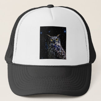 Wise old Owl and stars Trucker Hat