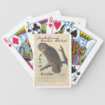 Wise old owl bicycle playing cards