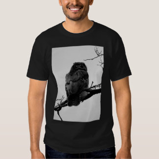 Wise Old Owl Black and White T Shirt