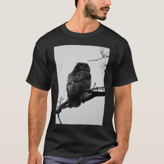 Wise Old Owl Black and White T-Shirt