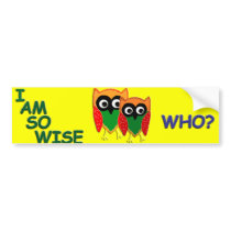 Wise Old Owl Bumper Sticker