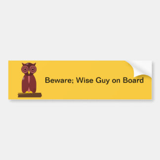 Wise Old Owl Bumper Stickers