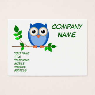 Wise old owl business card