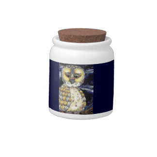Wise Old Owl Candy Jar