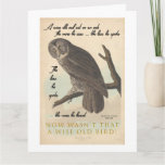 Wise old owl card