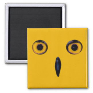 Wise Old Owl Eyes 2 Inch Square Magnet