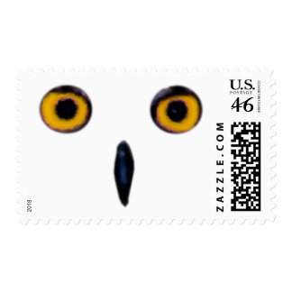 Wise Old Owl Eyes Postage Stamps