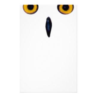 Wise Old Owl Eyes Stationery
