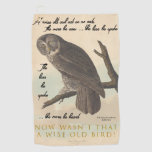 Wise old owl golf towel