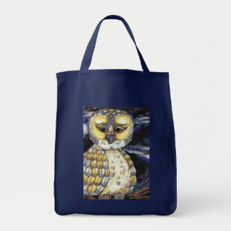 Wise Old Owl Grocery Tote bag