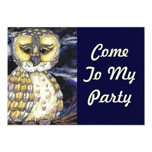 Wise Old Owl Party Invitations
