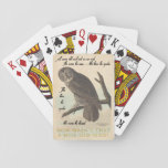 Wise Old Owl Playing Cards