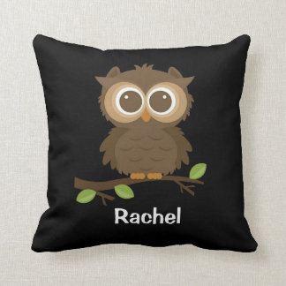 Wise Old Owl Polyester Throw Pillow