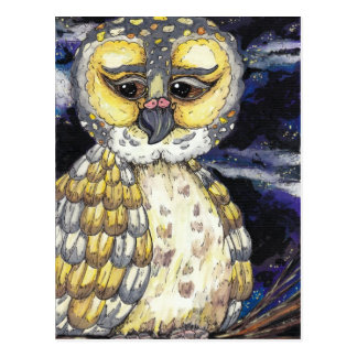 Wise Old Owl Postcard