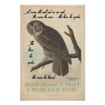 Wise Old Owl Poster