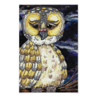 Wise Old Owl Print