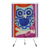 WISE OLD OWL RICE PAPER SHADE TRIPOD LAMP