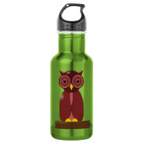 Wise Old Owl Stainless Steel Water Bottle