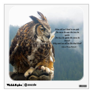 Wise Old Owl Wall Decal