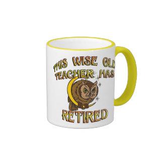 Wise Old Teacher Ringer Mug