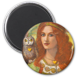 Wise Ones- Celtic Owl and Lady Magnet