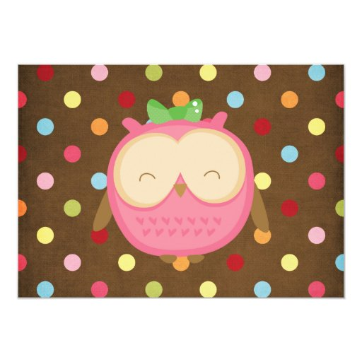 Wise Owl 5x7 Paper Invitation Card