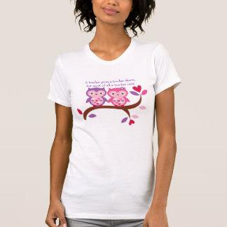 Wise Owl A Teacher Cares T-Shirt