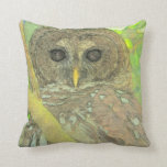 Wise Owl Art Pillow