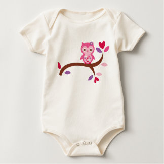 Wise Owl Baby Bodysuit