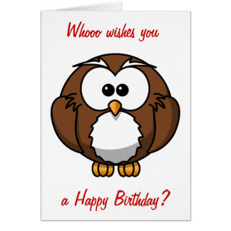 Wise Owl Birthday Cards