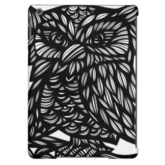 Wise Owl Black and White iPad Air Covers