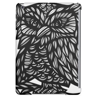 Wise Owl Black and White iPad Air Cases