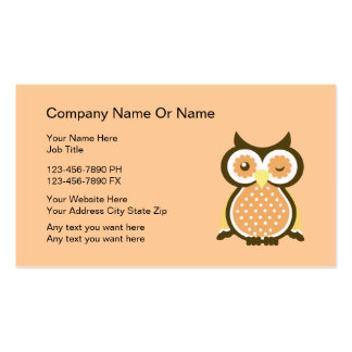 Wise owl business cards templates zazzle for Owl business cards