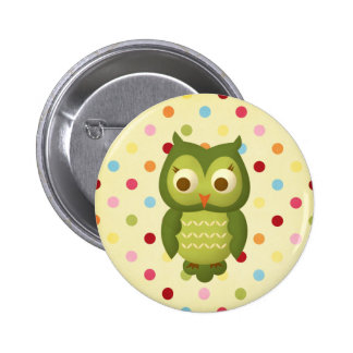 Wise Owl Button