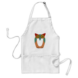 Wise Owl Cartoon Adult Apron