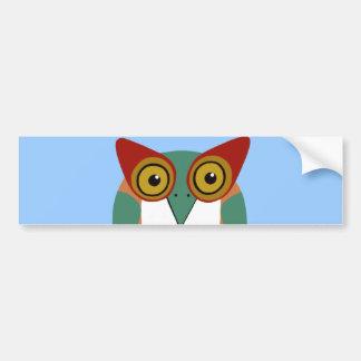 Wise Owl Cartoon Bumper Sticker