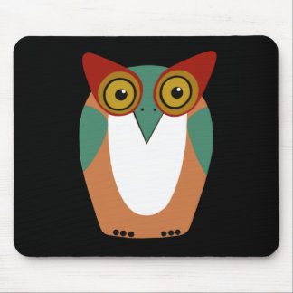 Wise Owl Cartoon Mouse Pad