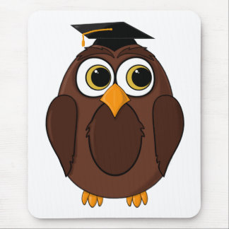Wise Owl Cartoon Mouse Pads