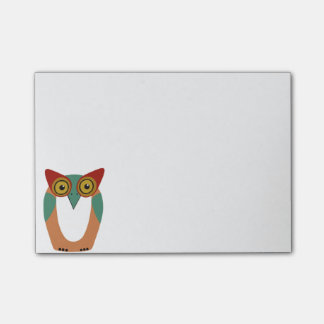 Wise Owl Cartoon Post-It Notes