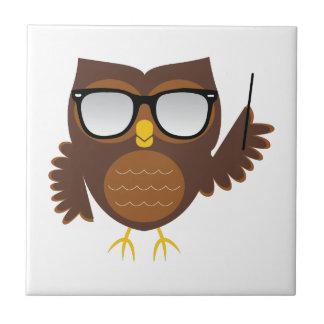 Wise Owl Ceramic Tile