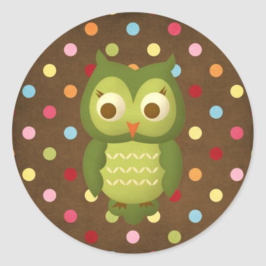 Wise Owl Classic Round Sticker