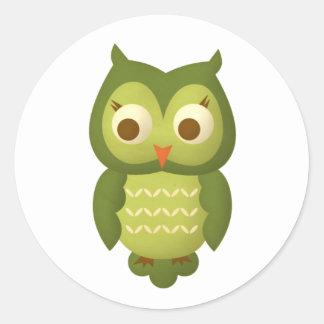 Wise Owl Classic Round Sticker