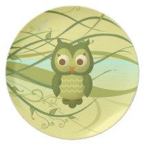 Wise Owl Dinner Plate